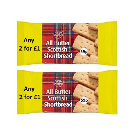 All Butter Scottish Shortbread Happy Shopper 100g (2 Pack)